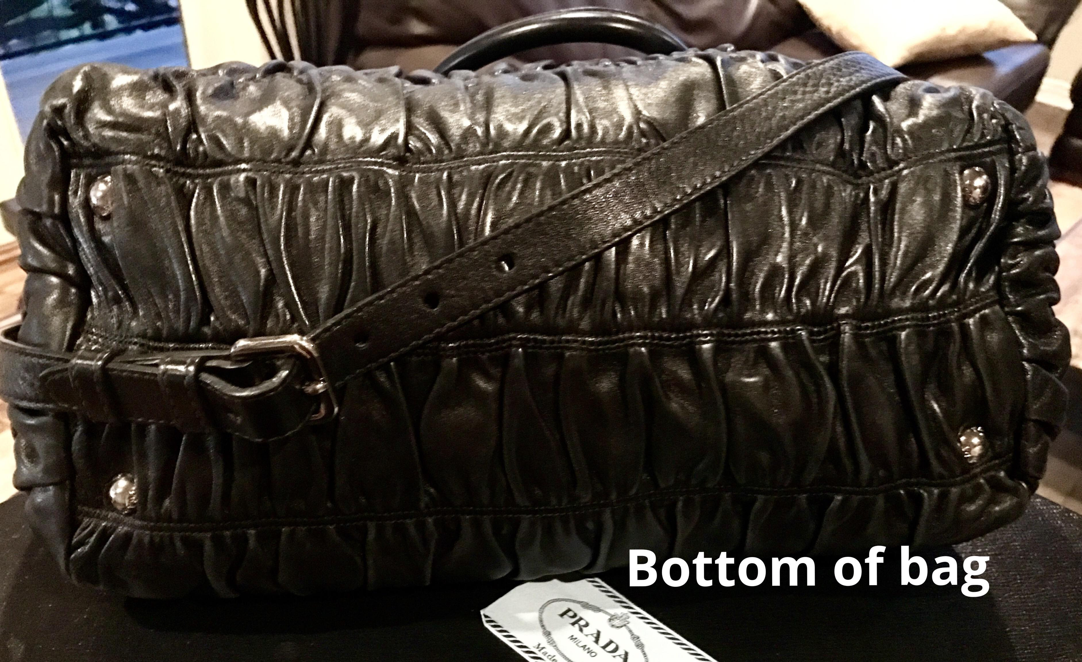 Description Prada Double Zip Ping Bag In Soft Na Leather