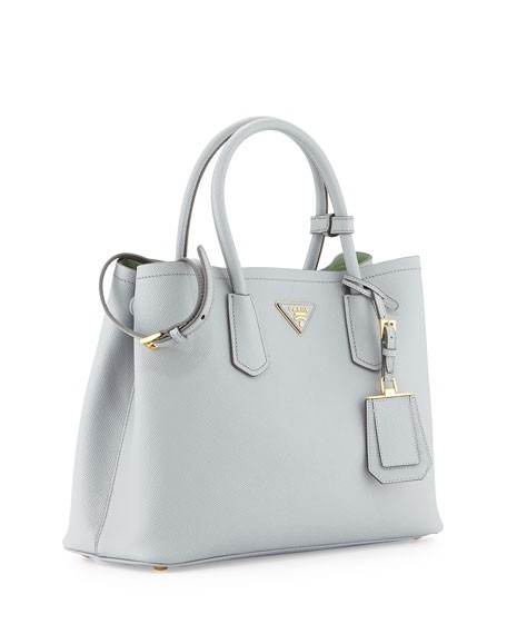 Double Saffiano Cuir Gray Green (Granito Acquamarina) Tote Bag - Replica Prada  Bags on Sale From Manufactures Outlet 7142eeff3c