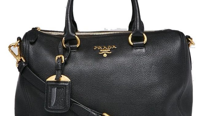 Prada Boston Women s Vitello Phenix 1bb023 Black Leather Satchel Italy  Replica Bags 4084742b5e8d4